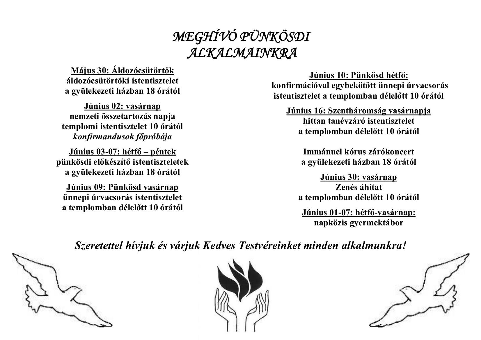 65d810320b Híreink   Kiskunlacházi Református Egyházközség